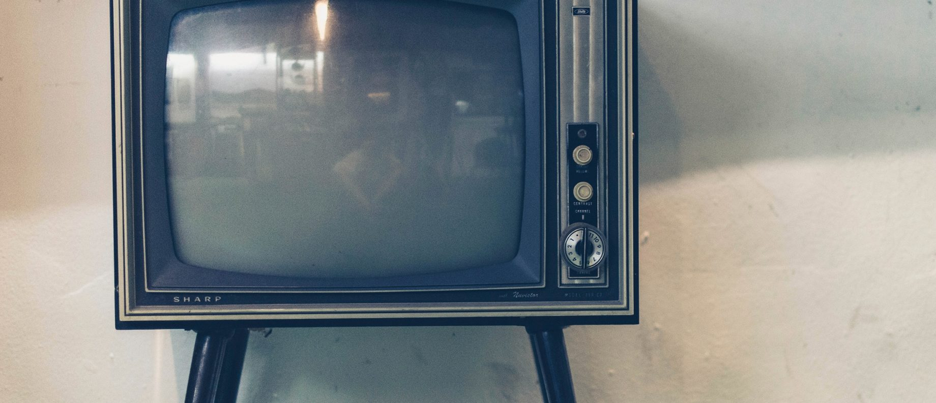An old television. Photograph.